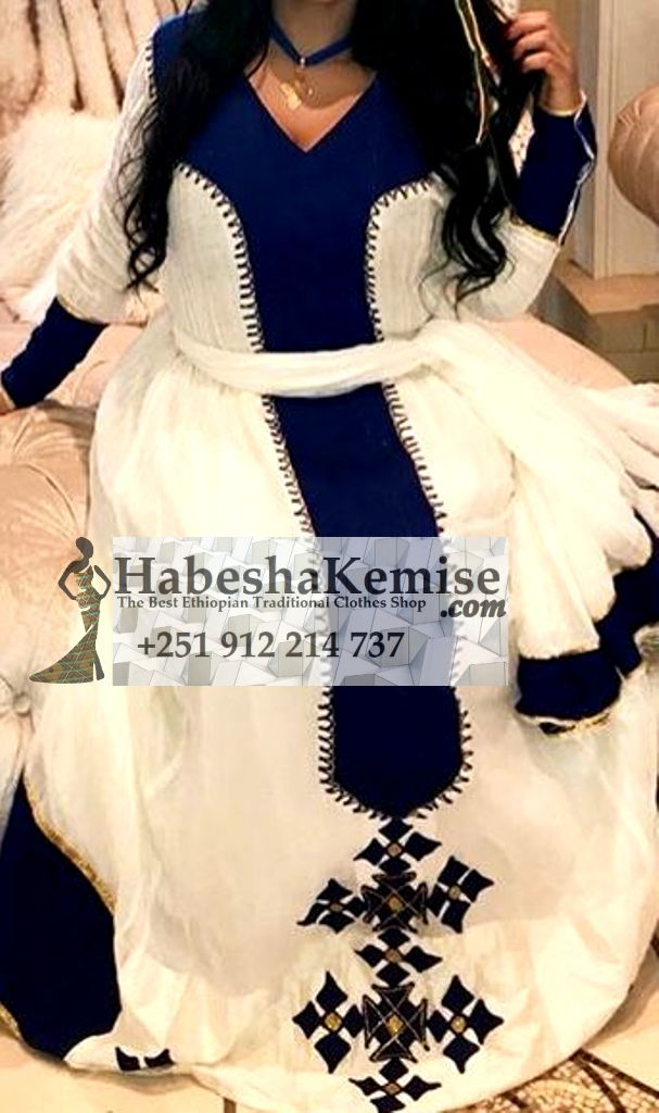 Blue Almaz Ethiopian Traditional Clothes-83