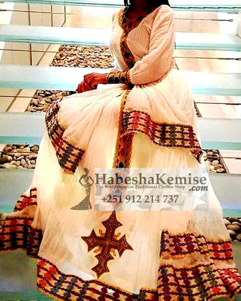 Key Nigist Ethiopian Traditional Dress-18