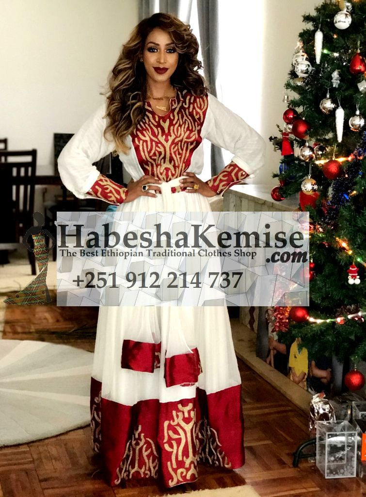 Lilys Flame Ethiopian Traditional Dress-5