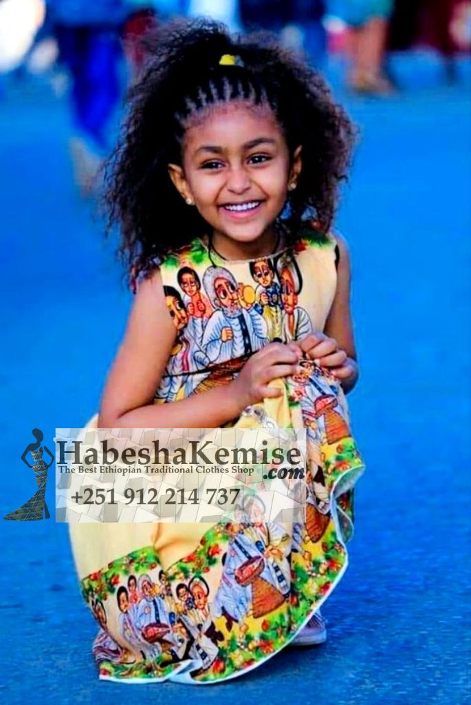 Makeda Ethiopian Traditional Dress Kids-24