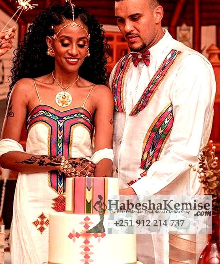 Pink Ameran Ethiopian Traditional Dress Wedding-43