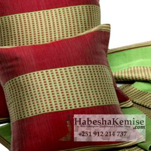 Red Gold Pillow Set Ethiopian House Decor-20