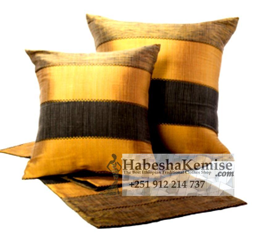 Traditional Tibeb Pillow Set Ethiopian House Decor-22