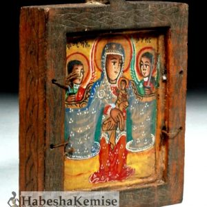 Wooden Mariam Church Artifact Ethiopian House Decor-19
